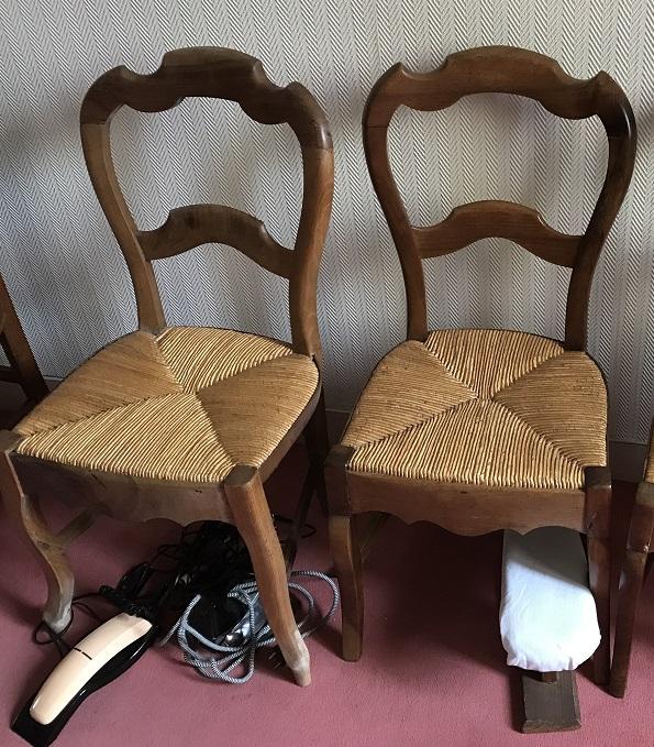 4 chaises paillées
